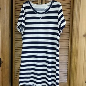 Navy and ivory stretch dress